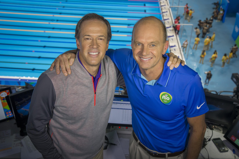Dan Hicks, Swimming Play-by-Play & Rowdy Gaines, Swimming Analyst - NBC  Sports PressboxNBC Sports Pressbox